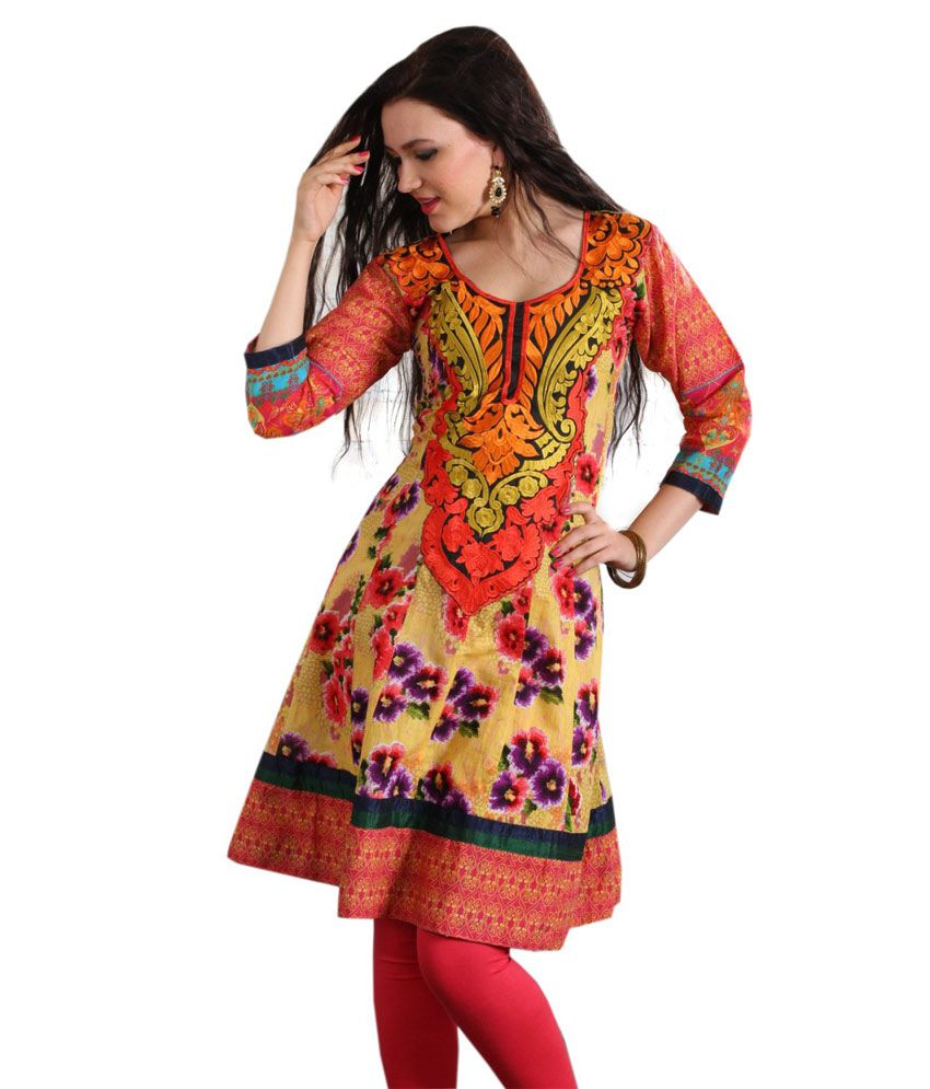 Designer Cotton Kurti With leggins