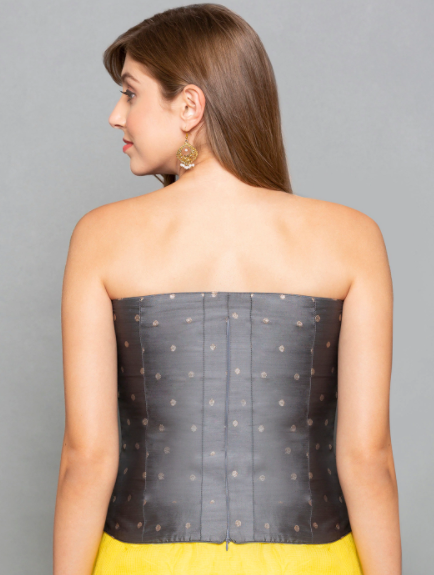 types of shapewear charcoal grey corset back