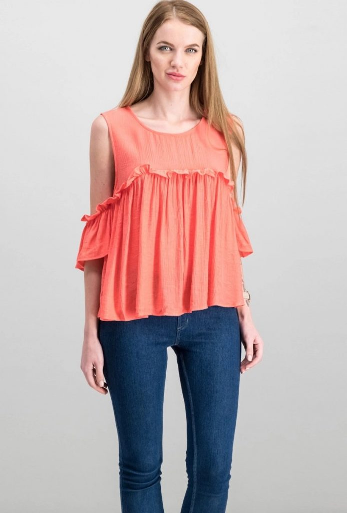 Coral Color Tops for ladies