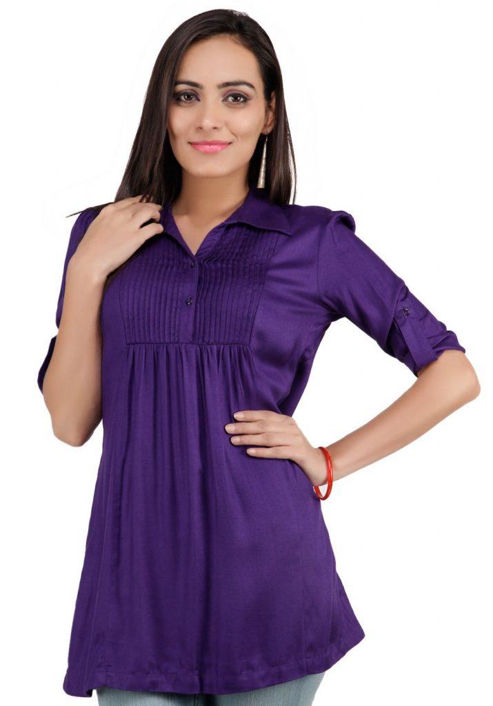 Purple Color Tops for women