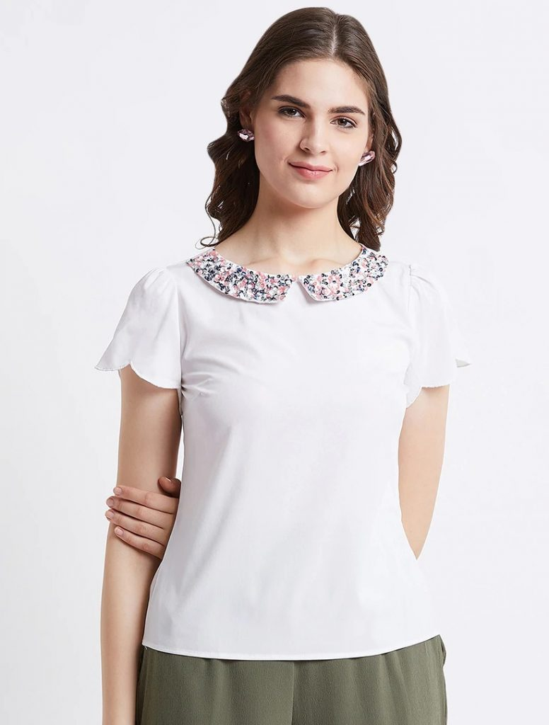 collar types tops for ladies