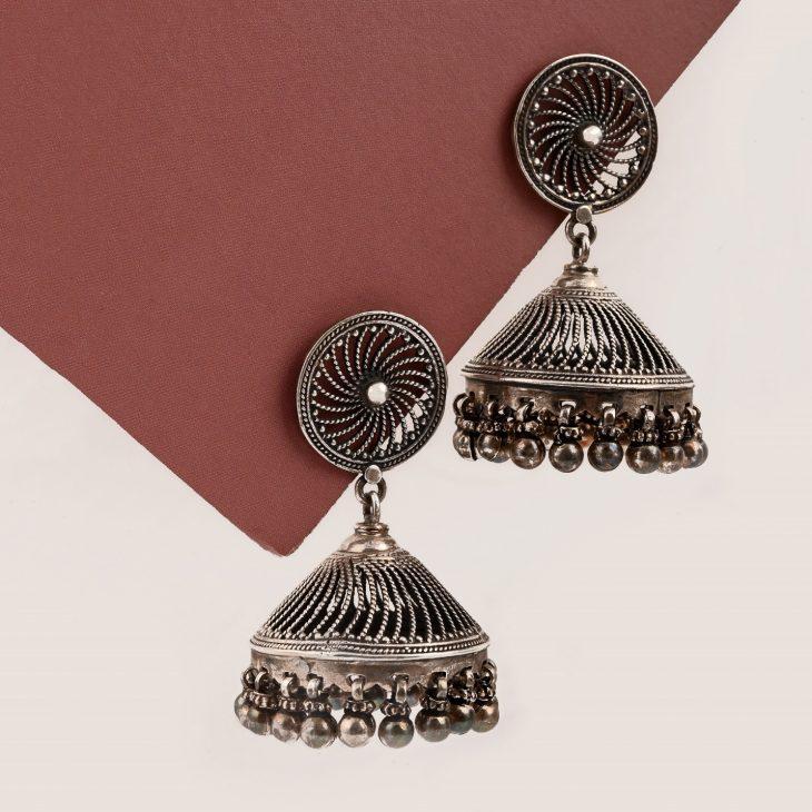 Top Silver Jhumka Earrings